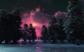 sunset, winter, andarson