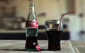 cola, coca, glass