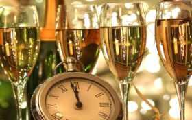 шампанское, бокалы Фон № 31244 разрешение 1600x1200