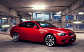 красная, bmw, машина