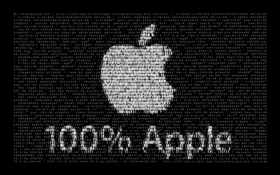 100% apple