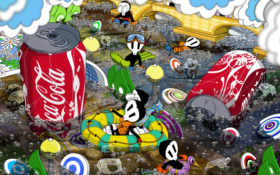 cola, coca Фон № 7236 разрешение 1600x1200