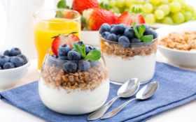 мюсли, гранола, yogurt