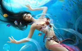 goddess, water