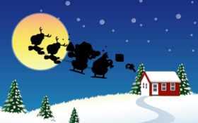 santa, sleigh