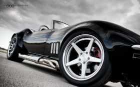 corvette, wheels, black