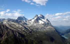 mountain, peak