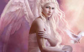 angel, girl