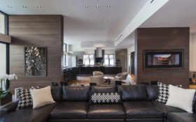 диван, кухня, интерьер