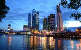 москва, город, ночью