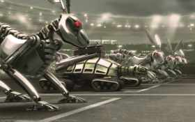 роботы, звери