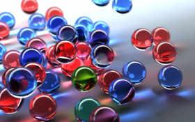 шарики, цветные