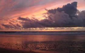 пляж, закат Фон № 9148 разрешение 1920x1200