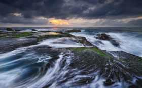 море, прилив, бушующие