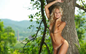 блондинка, природа