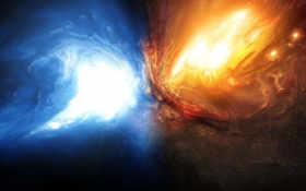 взрыв, космос Фон № 17438 разрешение 1920x1080