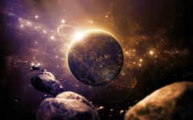 космос, планета, метеориты