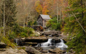 река, лес Фон № 25844 разрешение 1920x1200