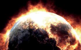 planet, взрыв, fire