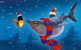 акула, cartoon, fish