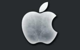 apple серый на тёмно-сером фоне