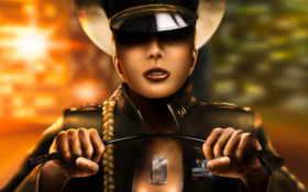 графика, женщина, полковник