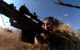 снайпер, трава