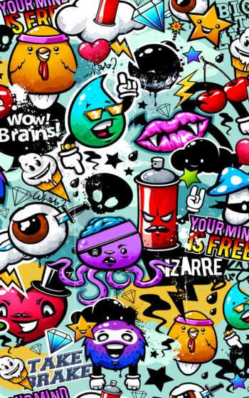 стена, mural, graffito, бумага, print, home, many, mind, deal, new, использование