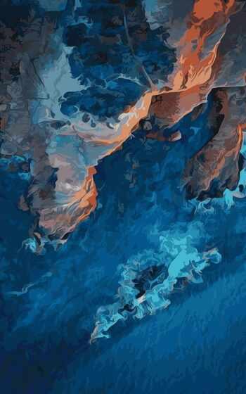 краска, берег