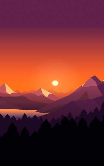 illustration, landscape, design, плоский,