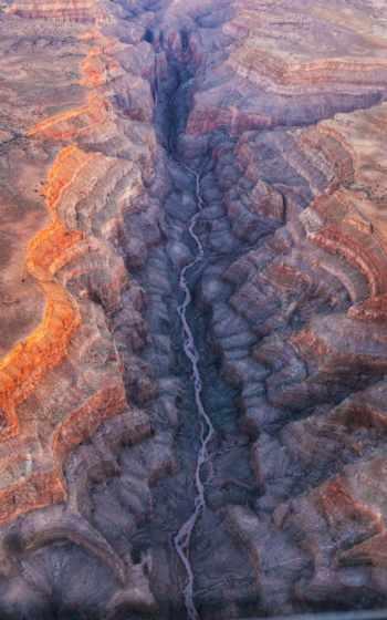 каньон, горы, река
