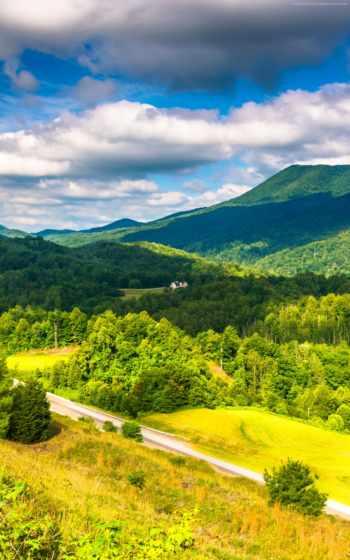 appalachian, mountains, landscape, trail, usa, код,