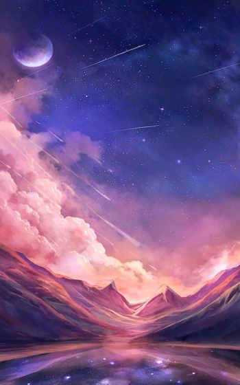 ,, небо, пурпур, фиалка, атмосфера, облако, пространство, вселенная, космическое пространство, звезда, пейзаж, цифровое искусство, искусство, живопись, пейзажная живопись, художник, рисунок, обои, цифровая живопись, акварельная живопись