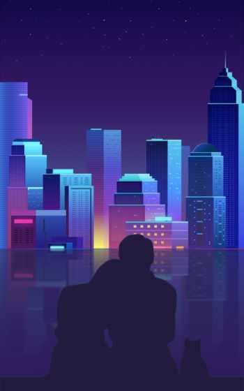 cityscape, город, пурпур, населенный пункт, городской пейзаж, столица, фиалка, дизайн, небоскреб, ночь,