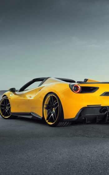 car, ferrari, суперкар, взгляд, see, rear, sports, супер