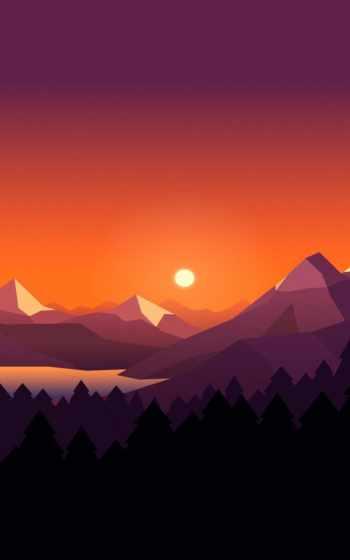 плоский, minimal, design, illustration, free, фон, sun, вектор,
