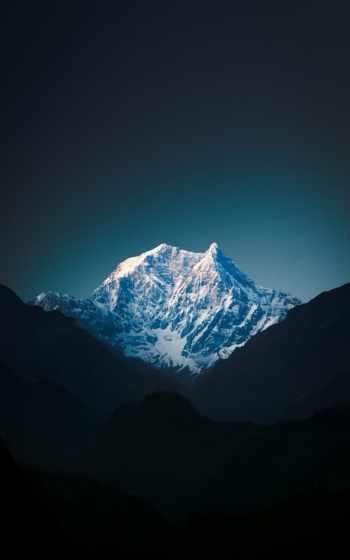 ,, mountainous landforms, гора, небо, горный хребет, синий, природа, свет,