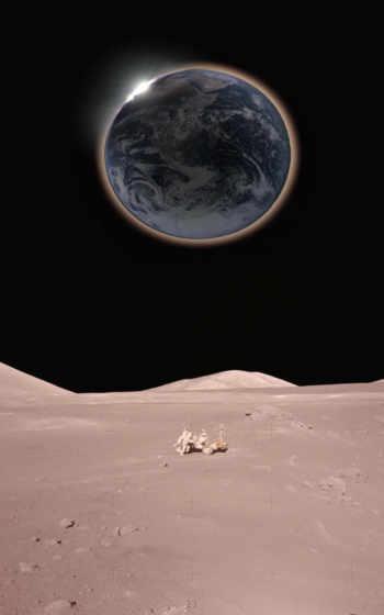 луна, спутник,