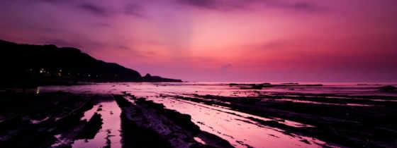 небо, фиолетовое, закат, широкоформатные, день, качественные, текстура, kisa, бесплатные, моря,