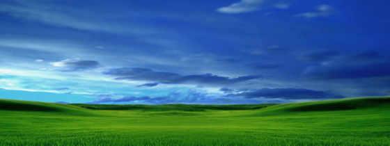 луг, зелёный, небо, oblaka, landscape, море, трава, world, корабль, янв,