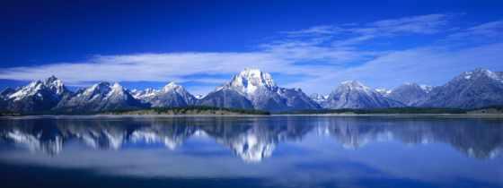 горы, небо, oblaka, озеро, фотообои, water, мониторов, природа,