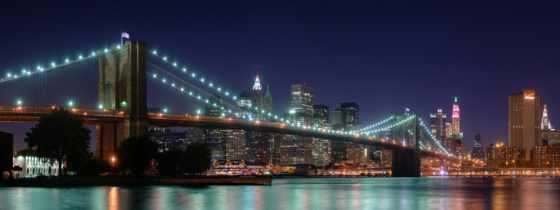 нью, york, ночь, город, new, огни,