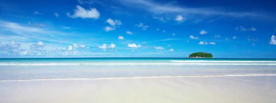 природа, моря, небо, белым, красивые, full, остров, голубое, острова,