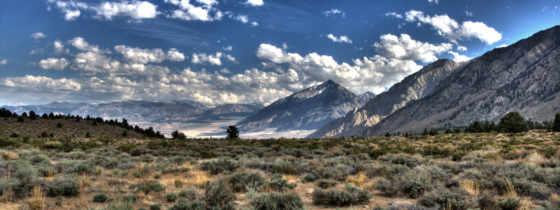,горы,пустошь,трава,облака,