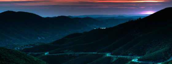 night, mountains, mountain, dusk, multiscreen, download, views, landscapes, road, view, hills,