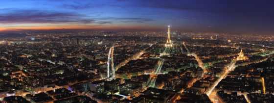 париж, франция, парижа, город, turret, эйфелева, огни,