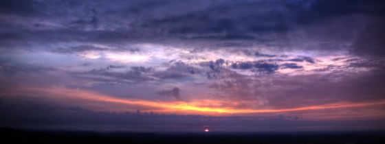 , закат, панорама, небо,