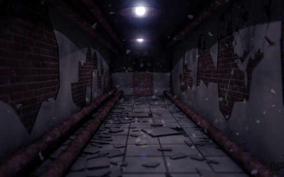 подвал, трубы, темно, мрак, широкоформатные,