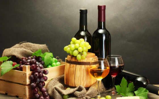 вино, бутылка, красное