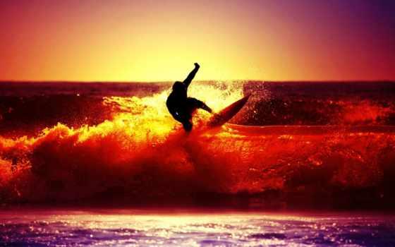 пляж, surf, сёрфинг